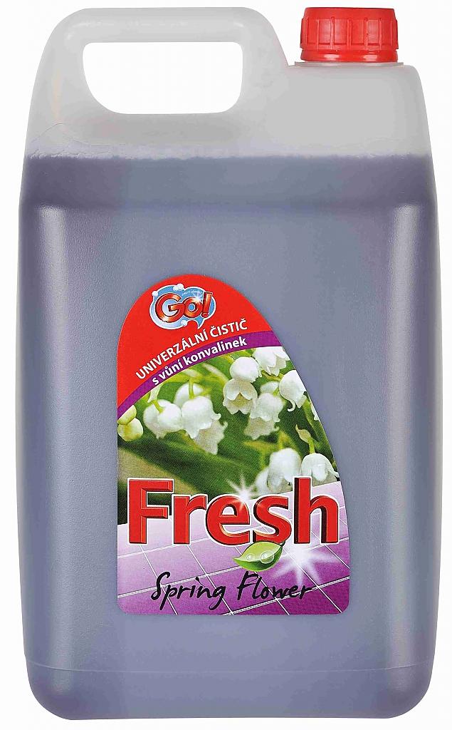 GO! FRESH SPRING FLOWER 5l fialový univerz.čistič