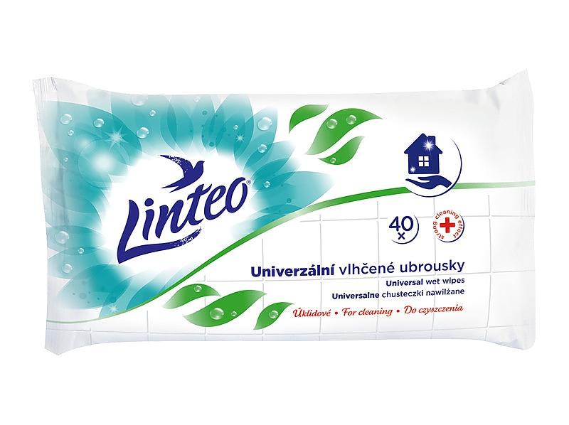 LINTEO antibakteriální vlhčené ubrousky 40ks