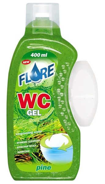 FLORE WC GEL 400ml PINE gel do košíčků toalet