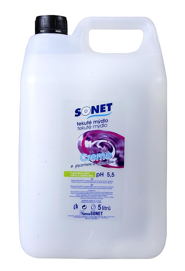 SONET tekuté mýdlo CREME bílé 5l