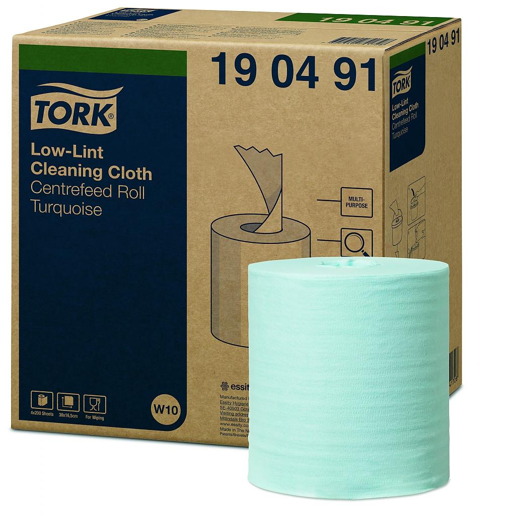 TORK čisticí utěrky Low-Lint tyrkys W10 200 útržků
