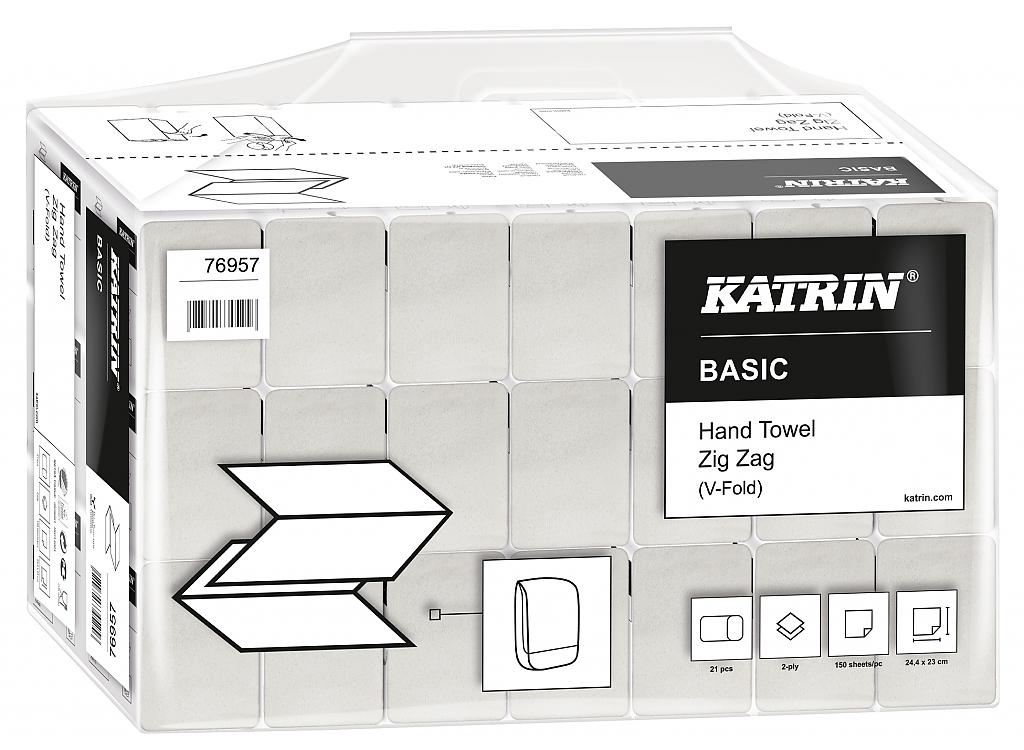 KATRIN BASIC ručníky Z-Z bílé 2V HP 3150ks 76957