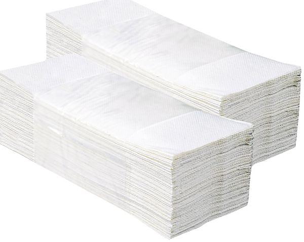 PAPÍROVÉ RUČNÍKY Z-Z bílé 5000ks 1-V PZ27 MERIDA