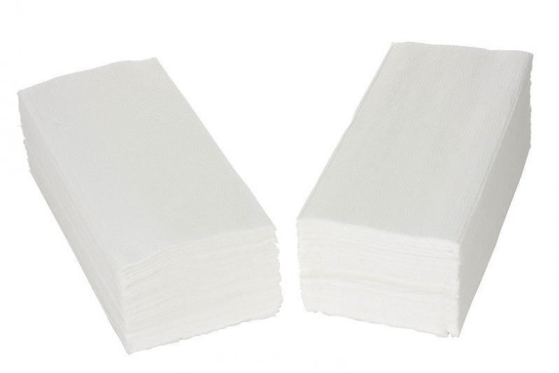 PAPÍROVÉ RUČNÍKY Z-Z bílé 1-V 100% celulóza 5000ks