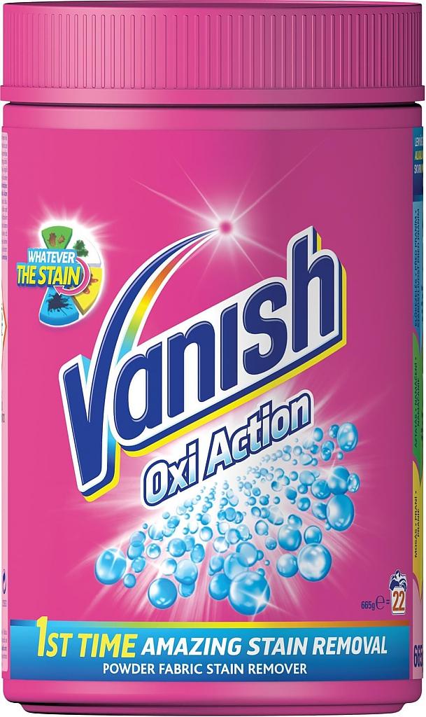 VANISH OXI ACTION RŮŽOVÝ 625g sypký odstraňovač