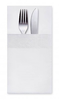 Ubrousky 3-vrstvé 40x40cm CutleryStar bílé