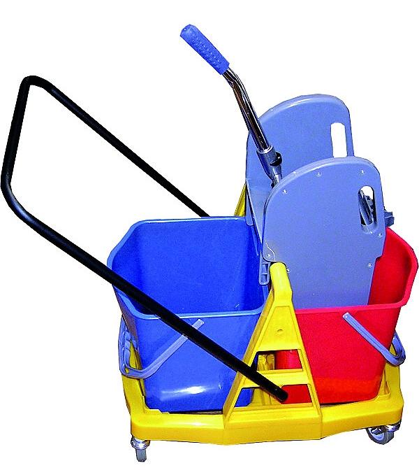 Vozík ROLL-MOP PLAST 2x17l se ždímačem