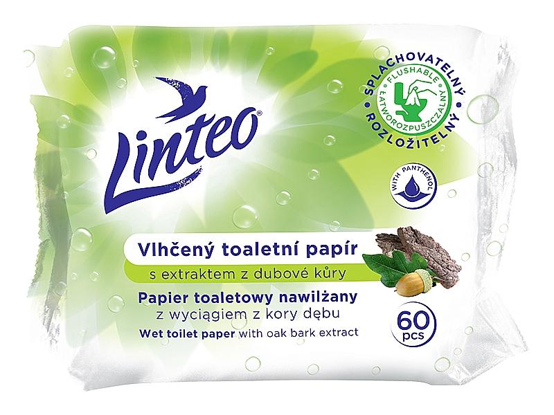 LINTEO vlhčený toal. papír 60ks - dubová kůra