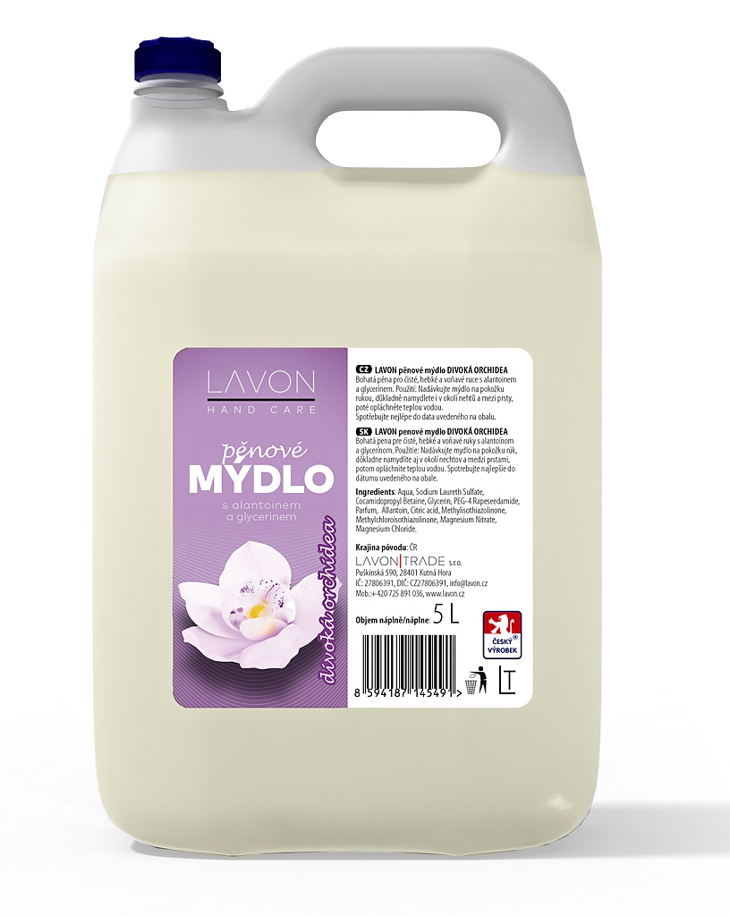 LAVON pěnové mýdlo 5l divoká orchidej