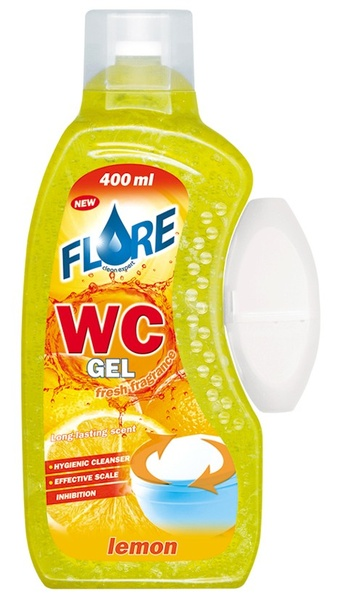 FLORE WC GEL 400ml LEMON gel do košíčků toalet