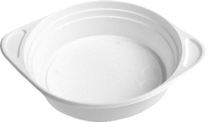 ŠÁLEK na polévku bílý PP 350ml