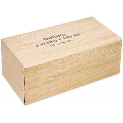 Kapesníčky DELUXO 150ks 3V v krabičce