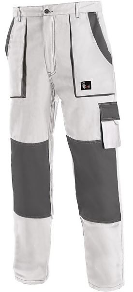 Kalhoty LUX JOSEF montérkové bílo-šedé vel. 58