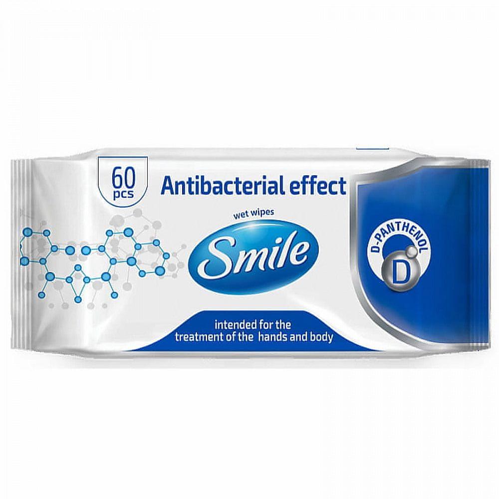 SMILE antibakteriální vlhčené ubrousky 60ks