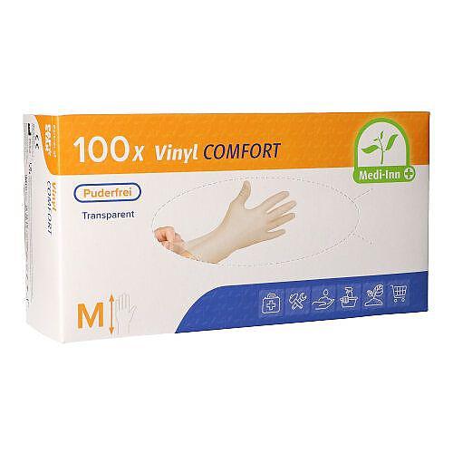 COMFORT vinylové rukavice bílé bez pudru M