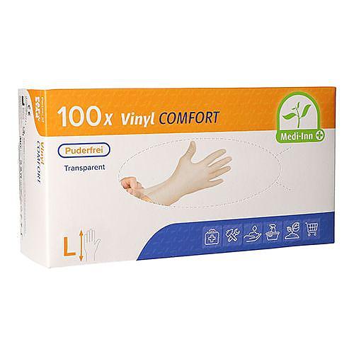 COMFORT vinylové rukavice bílé bez pudru L 100ks