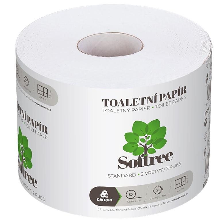 SOFTREE toaletní papír 68m 2-vrstvý bílý